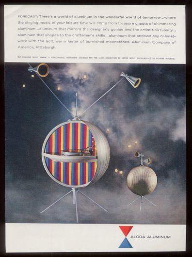 Music Sphere designed for Alcoa in 1956 by Graphic designer Lester Beall.