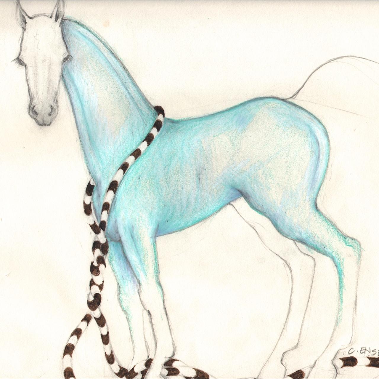 Turquoise Horse (10 x10)