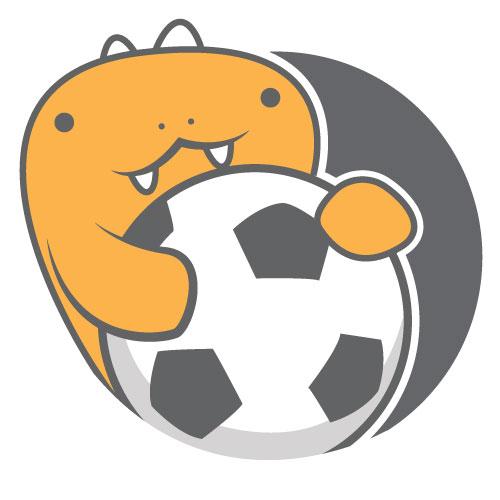 Soccersaurus ball hug