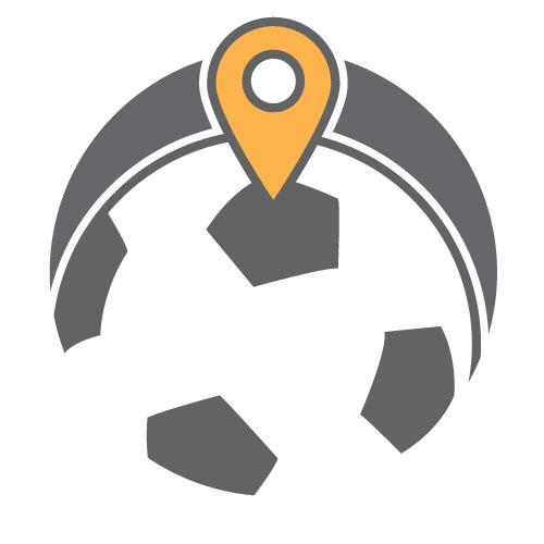 Soccer ball map icon