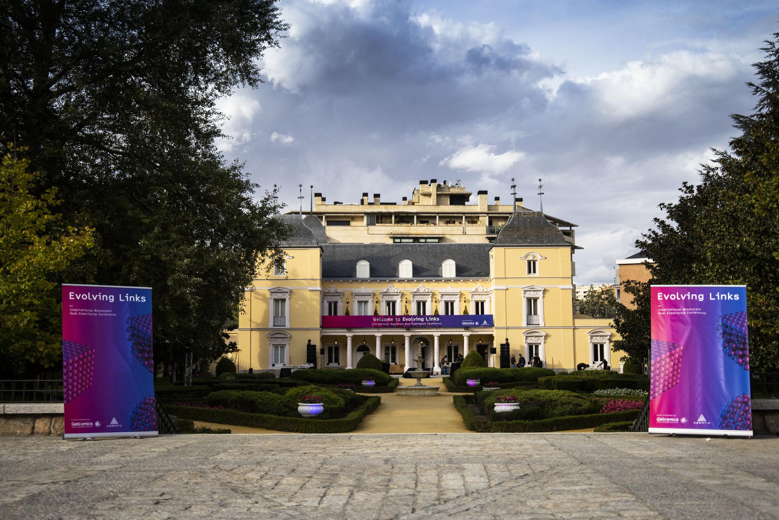 Adjacent reception building: Palacio Duques de Pastrana.