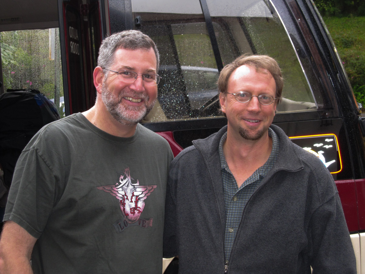 Here we are at the completion of our first workshop together back in 2009 (Doug is on the left, and Greg is on the right). We both had a little more hair and a little less gray!