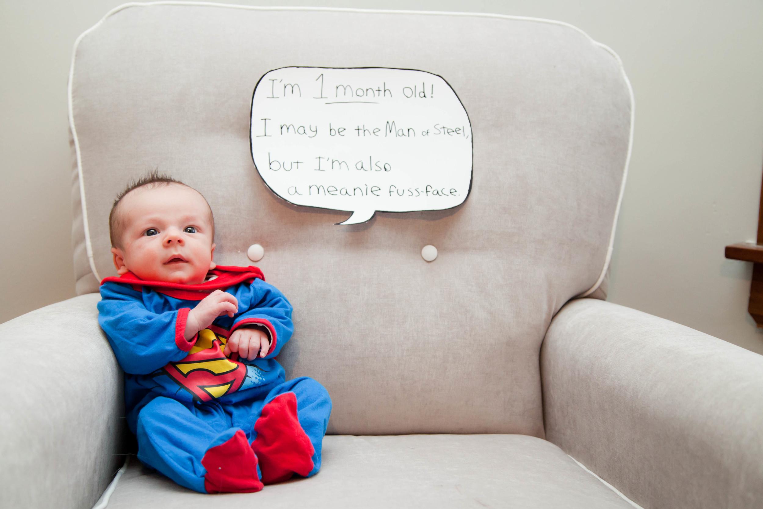 Rosanio Photography | {Superman} Superhero Monthly Photos | Massachusetts Family Photographer