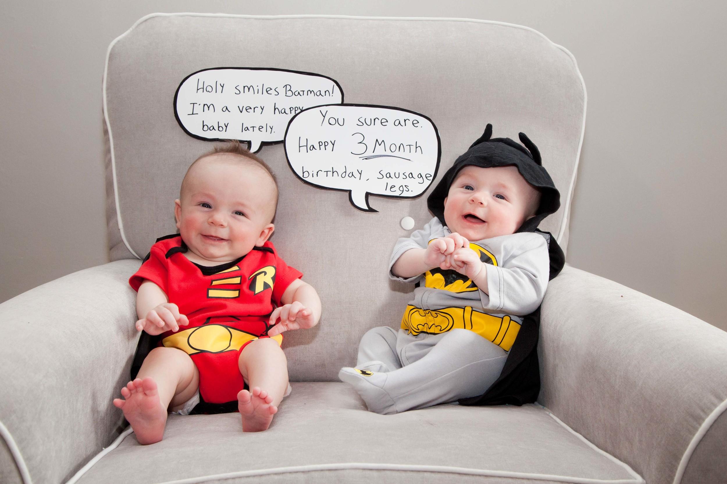 Rosanio Photography | {Batman & Robin} Superhero Monthly Photos | Massachusetts Family Photographer