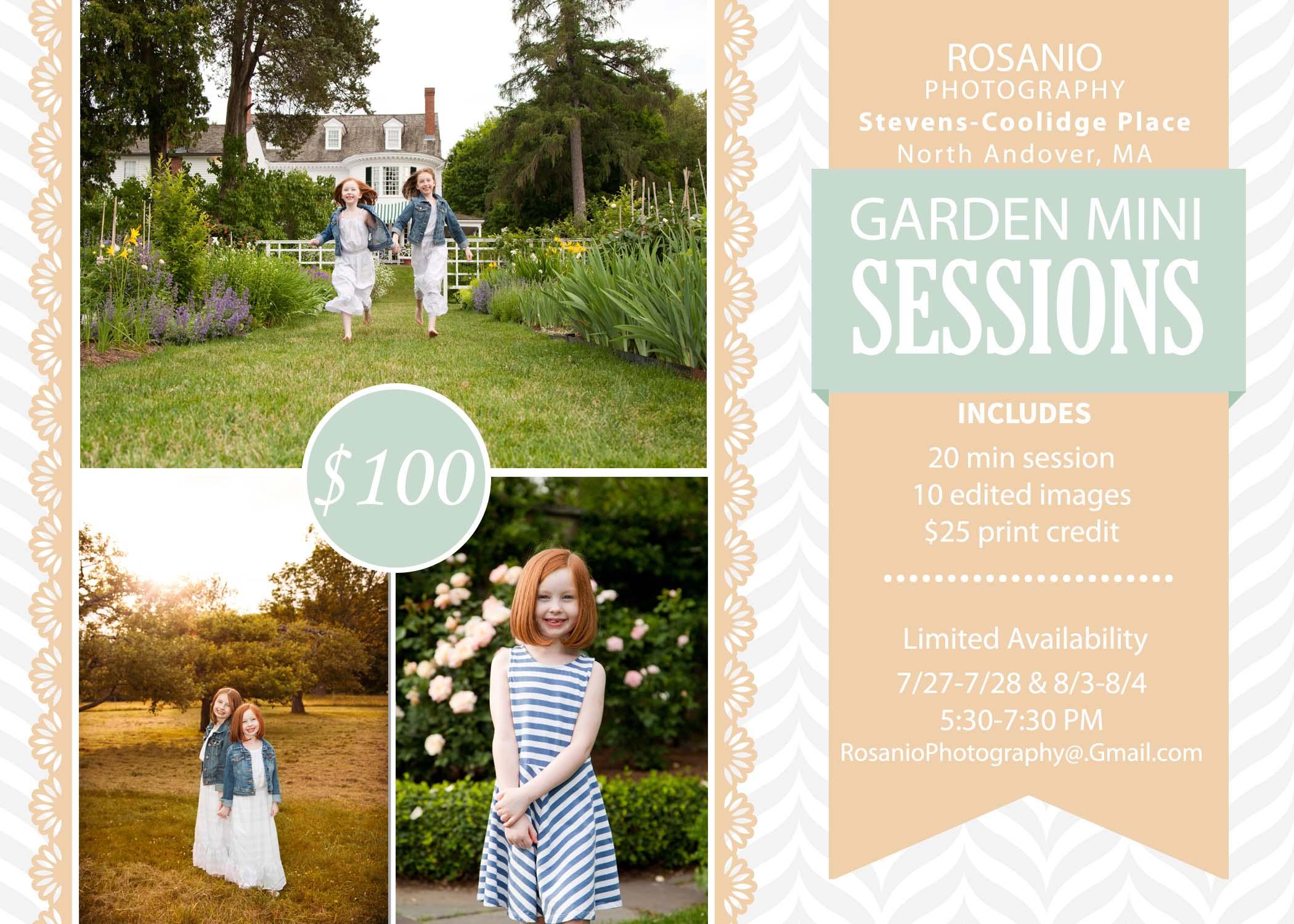 Rosanio Photography Garden Mini Sessions