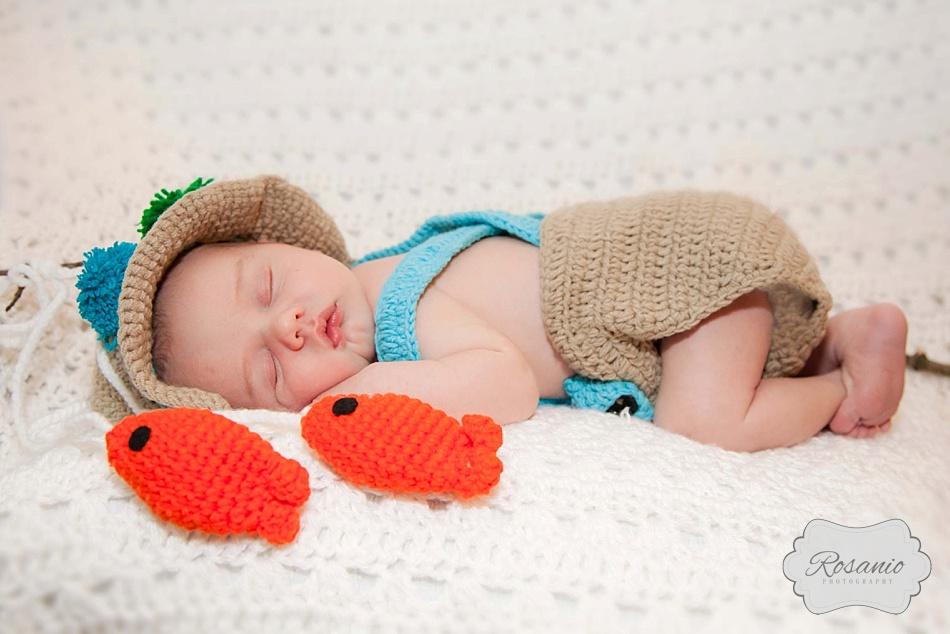Rosanio Photography   Newborn Fisherman   New Hampshire Family Photographer
