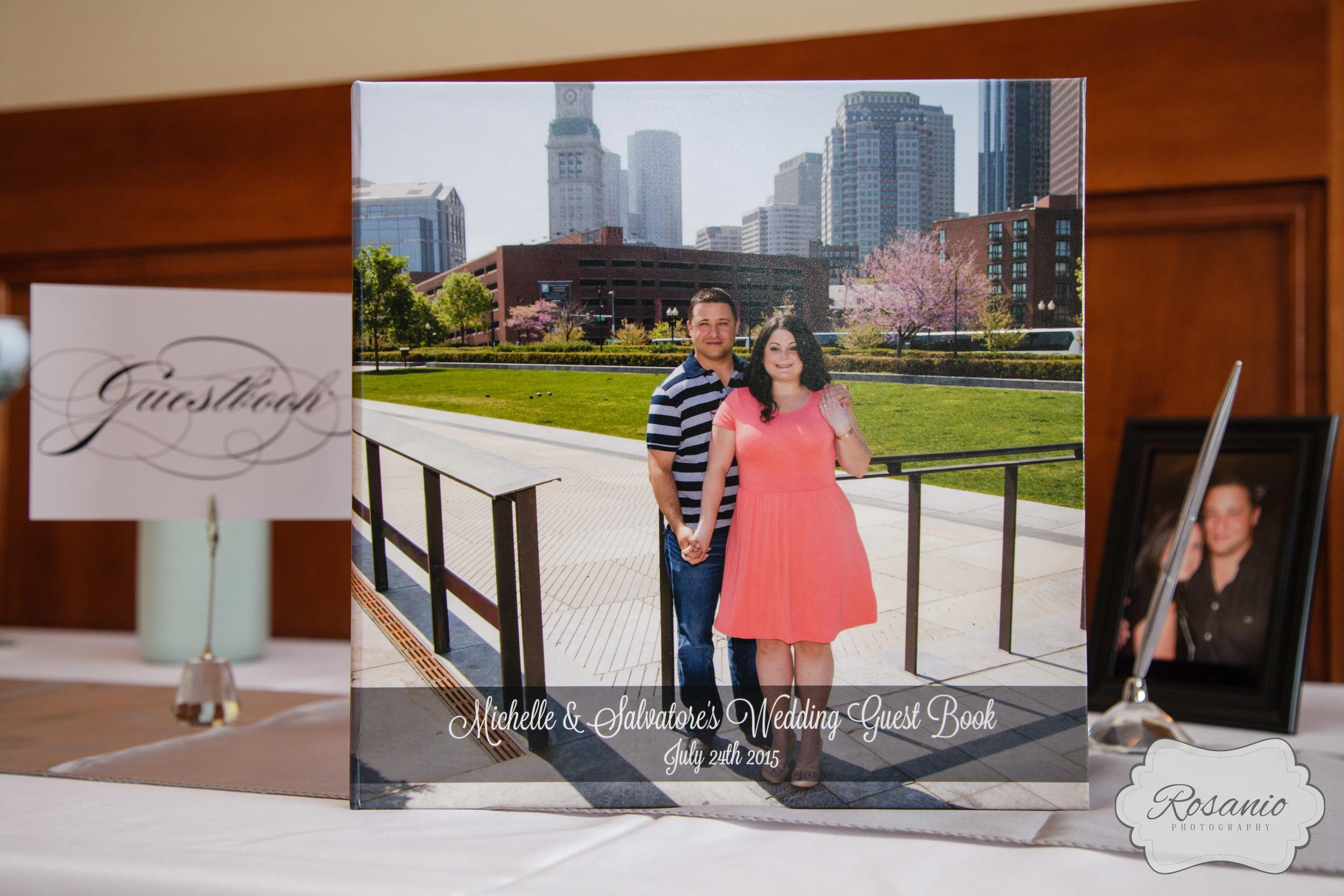 Rosanio Photography | Engagement Guest Book | Massachusetts Wedding Photographer