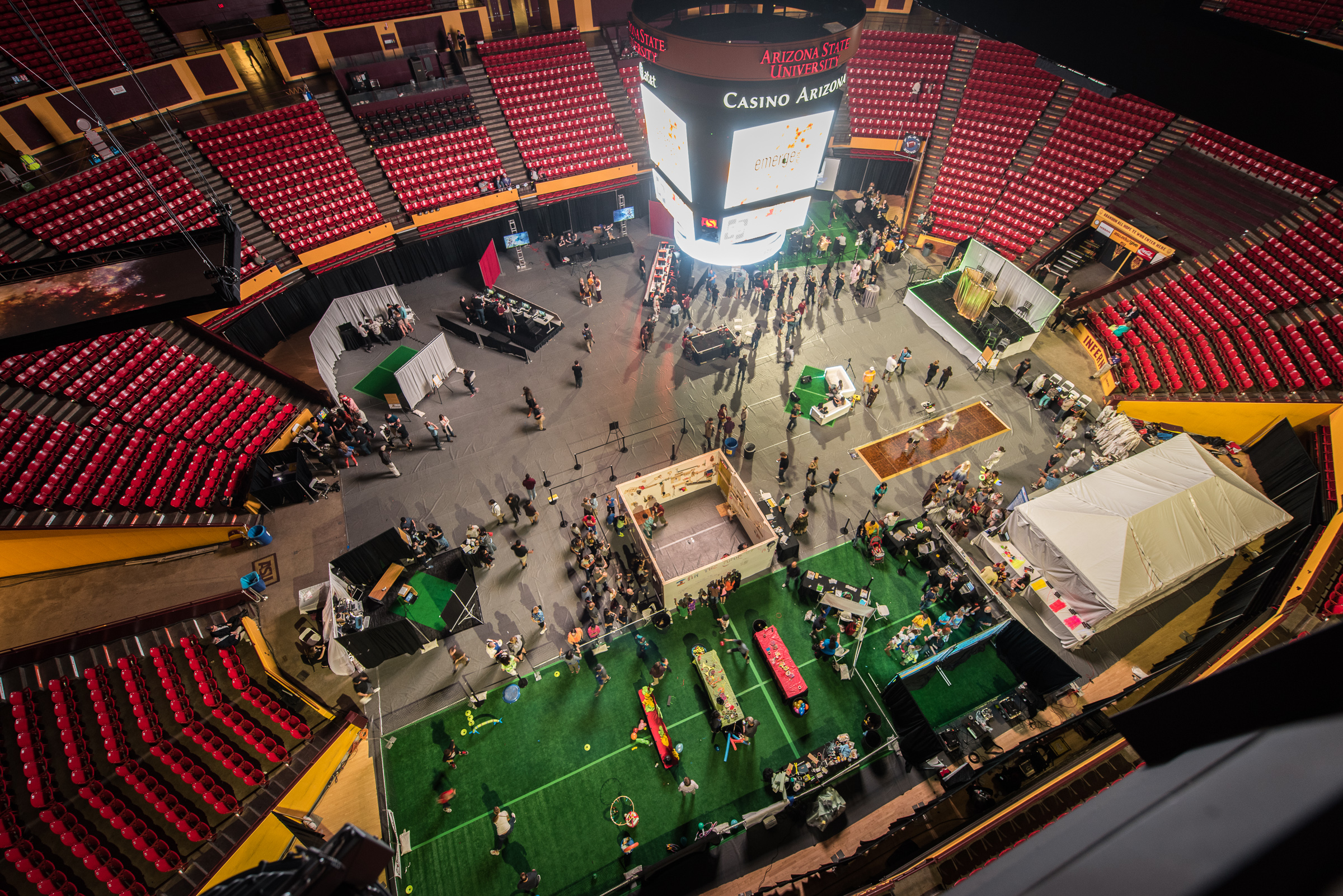 Overhead View of EMERGE Festival