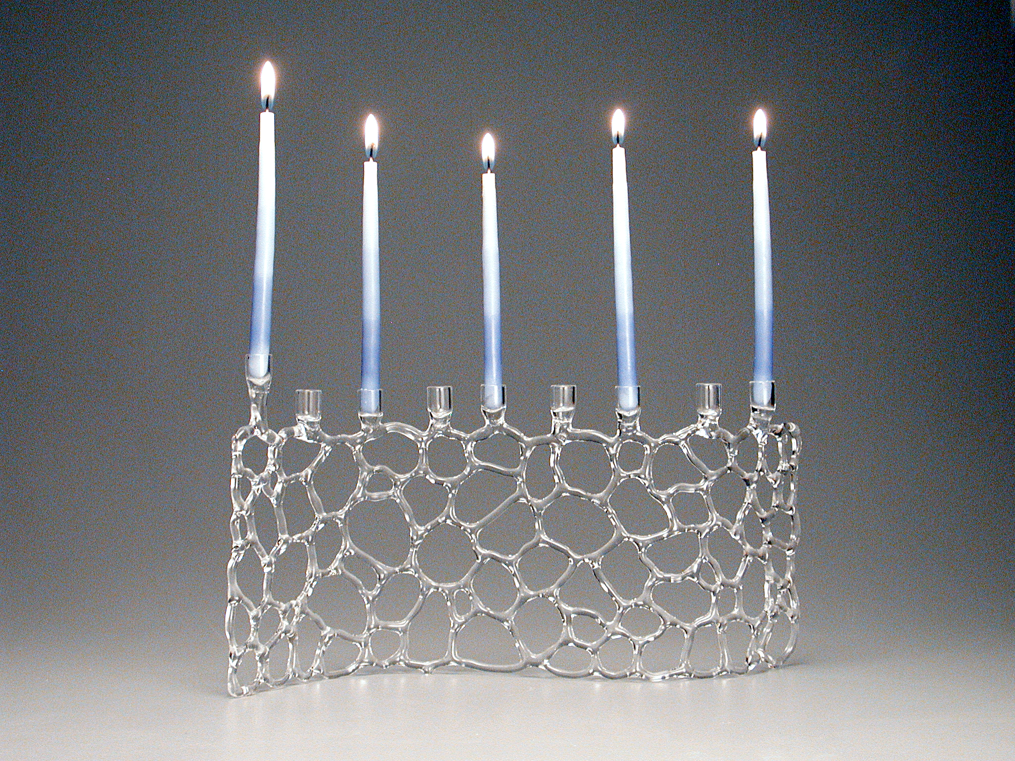 """Abstract Web Menorah, about 6"""" tall (without candles)"""