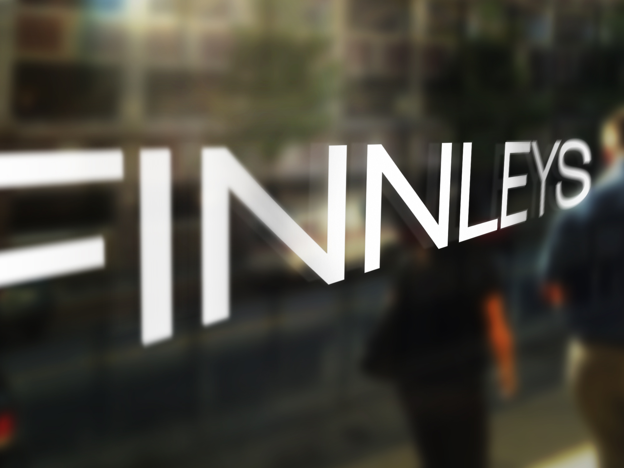 finnleys good findings window signage