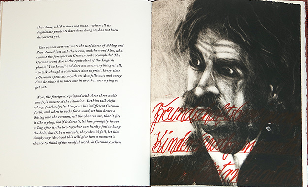 Mark Twain,  The Awful German Language . Etchings by Eckhard Froeschlin, 2017.
