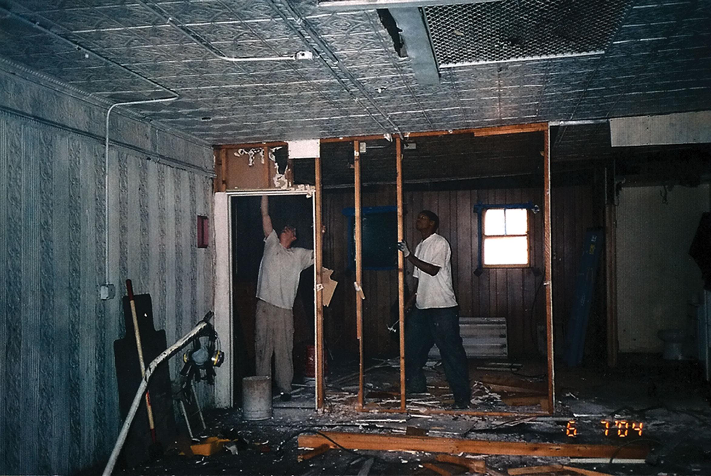 Dojo construction, June 2004