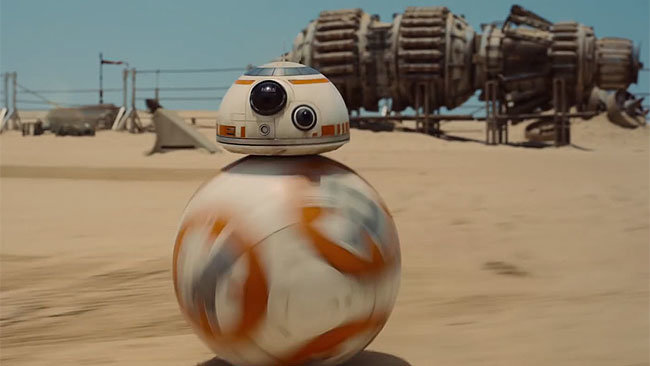 This is BB-8 from upcoming move Star Wars:  The Force Awakens