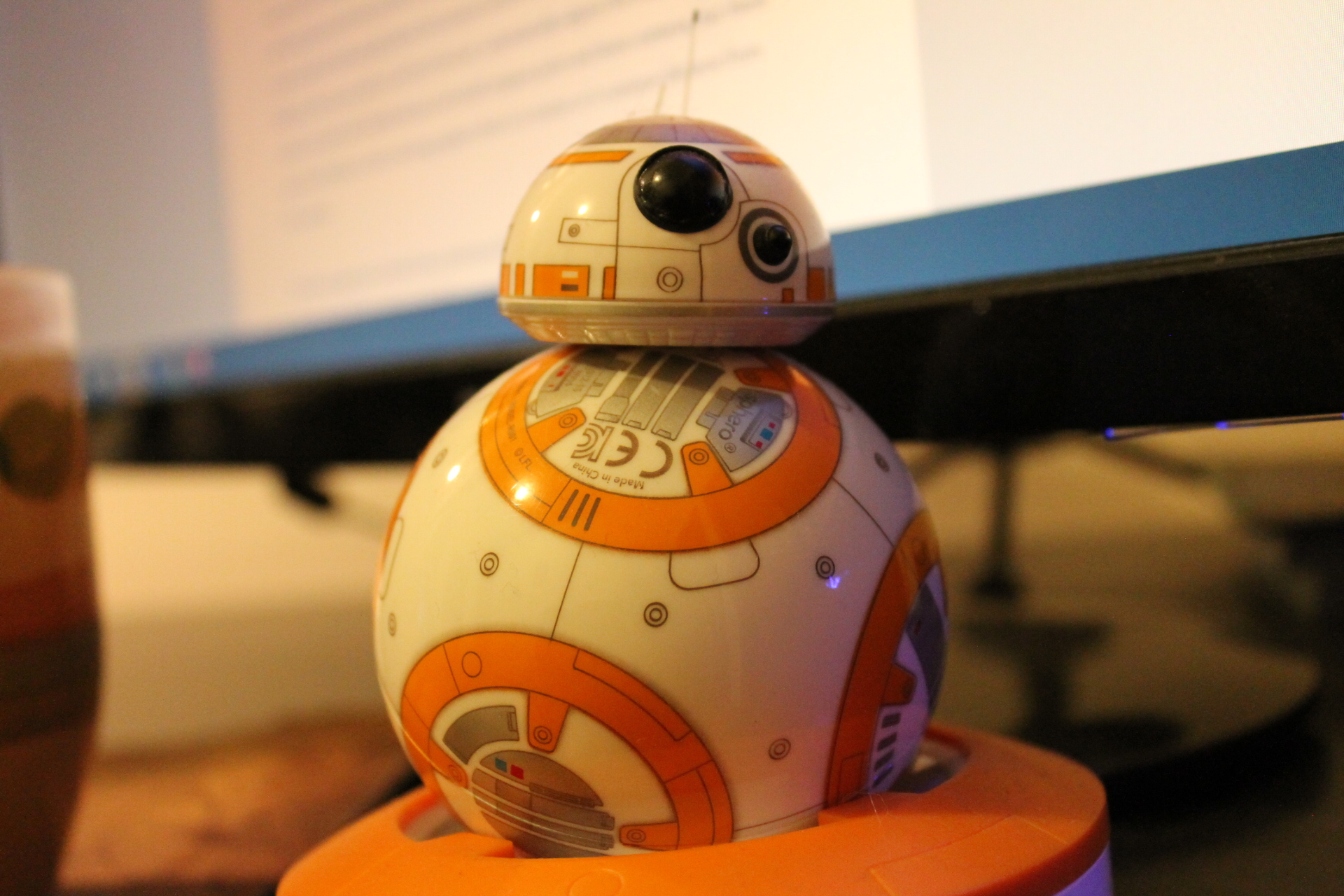 Notice the depth of field image, crispy BB-8 Droid up close,fuzzy back ground