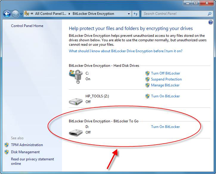 This is BitLocker in action
