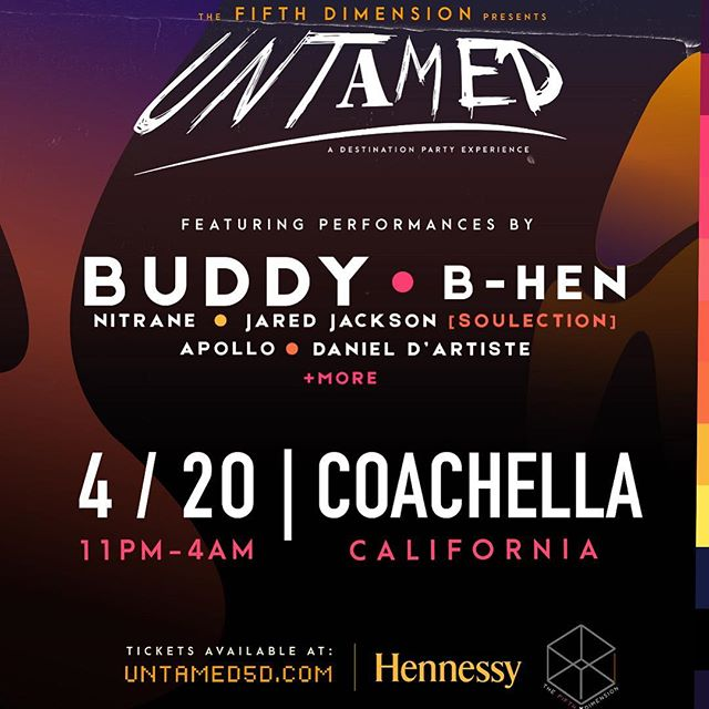 On 4/20 I'm playing my first Coachella Afterparty alongside my brother @djbhen can't wait! • • #coachella #untamed