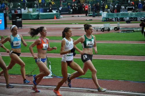 Katie at the 2012 Olympic Trials, 10,000 meters