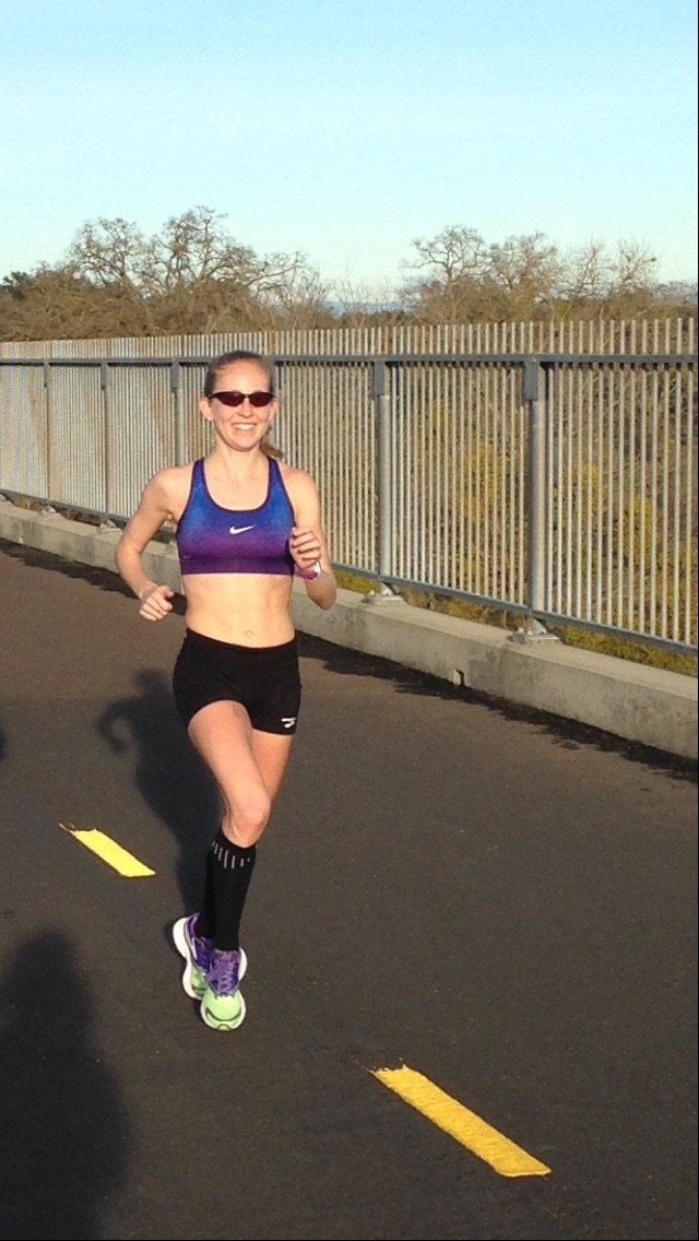 All smiles in the middle of a joyful 22 miler, feeling ready for 26.2!