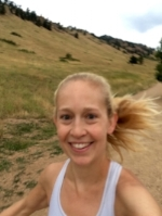 Running joyfully in Boulder, Colorado