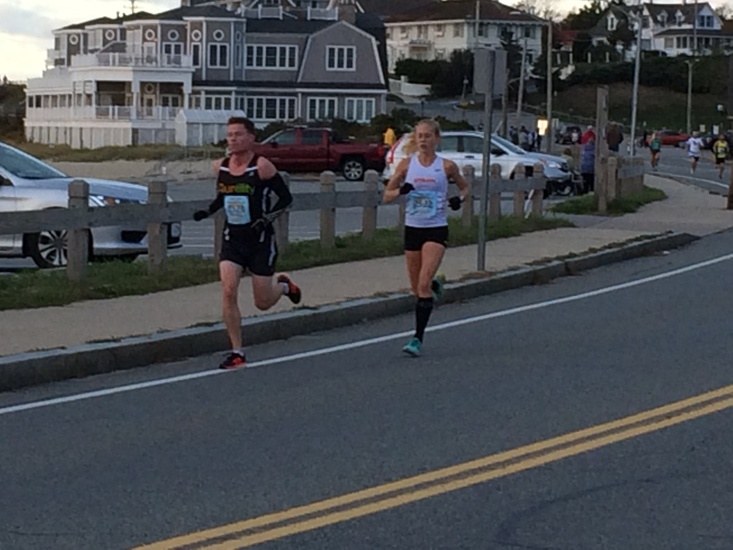 Approaching mile 3