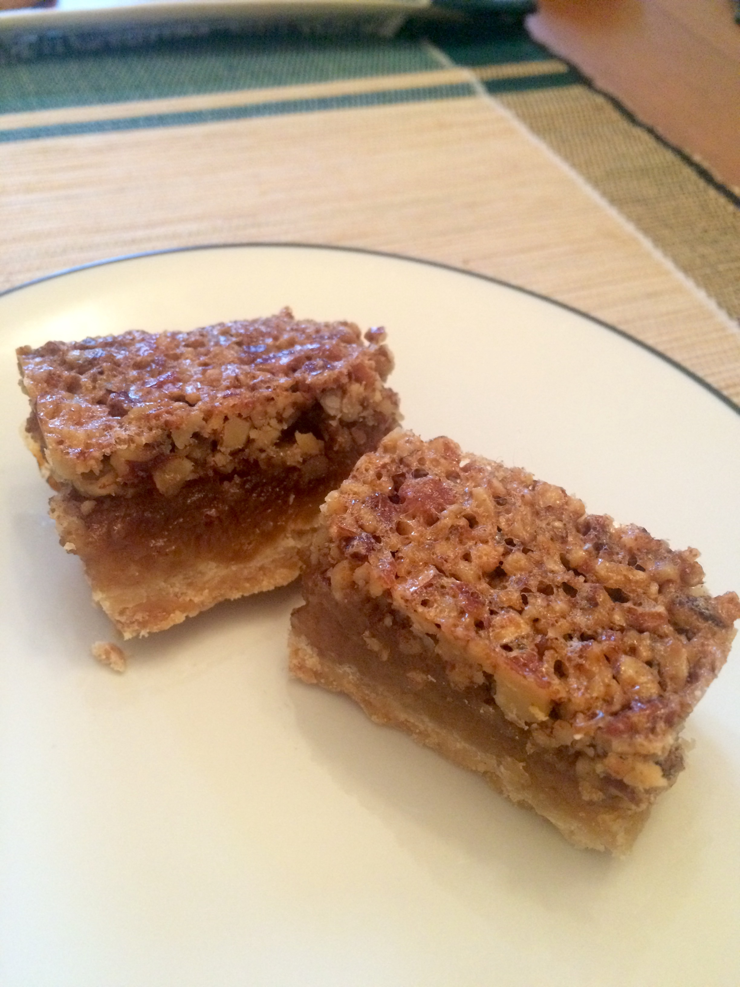 My mom's famous Pecan Pie Bars, perfect for any holiday gathering