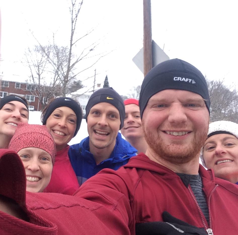 Training Joyfully athletes meet up for long run laps on Blackstone Boulevard