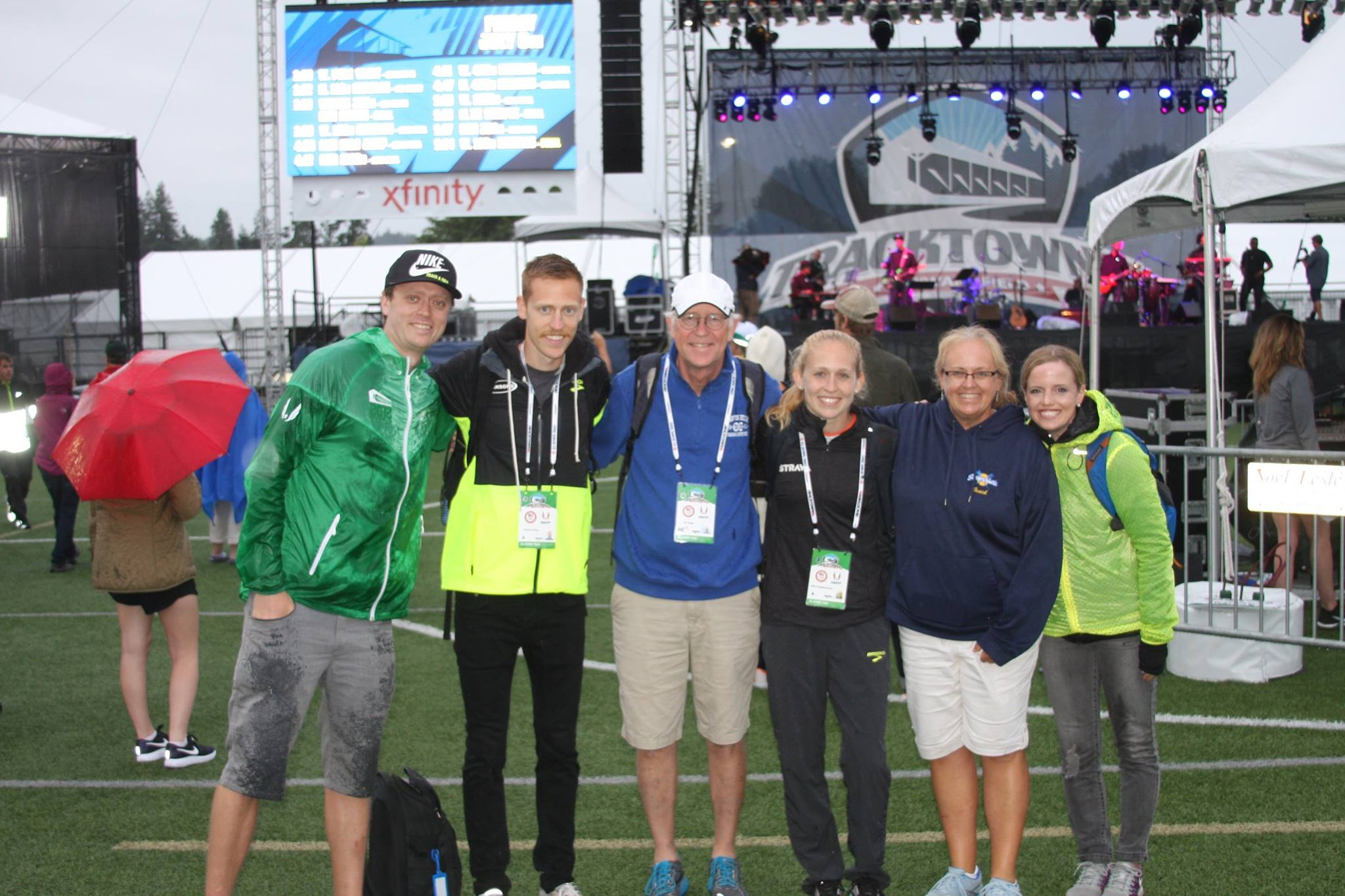 Post Olympic Trials 5k, my support crew, helping me turn that frown upside down!