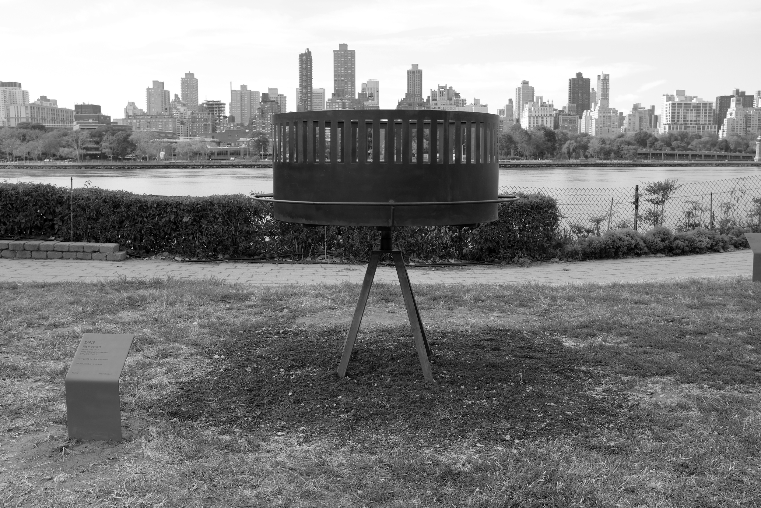Installation view of  Active Turn  at Socrates Sculpture Park for EAF15