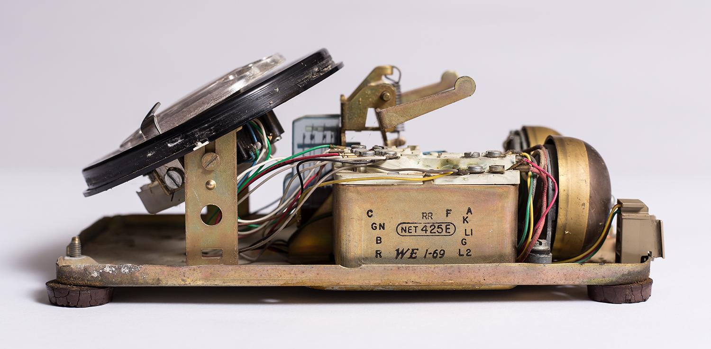 Inside a Rotary Phone