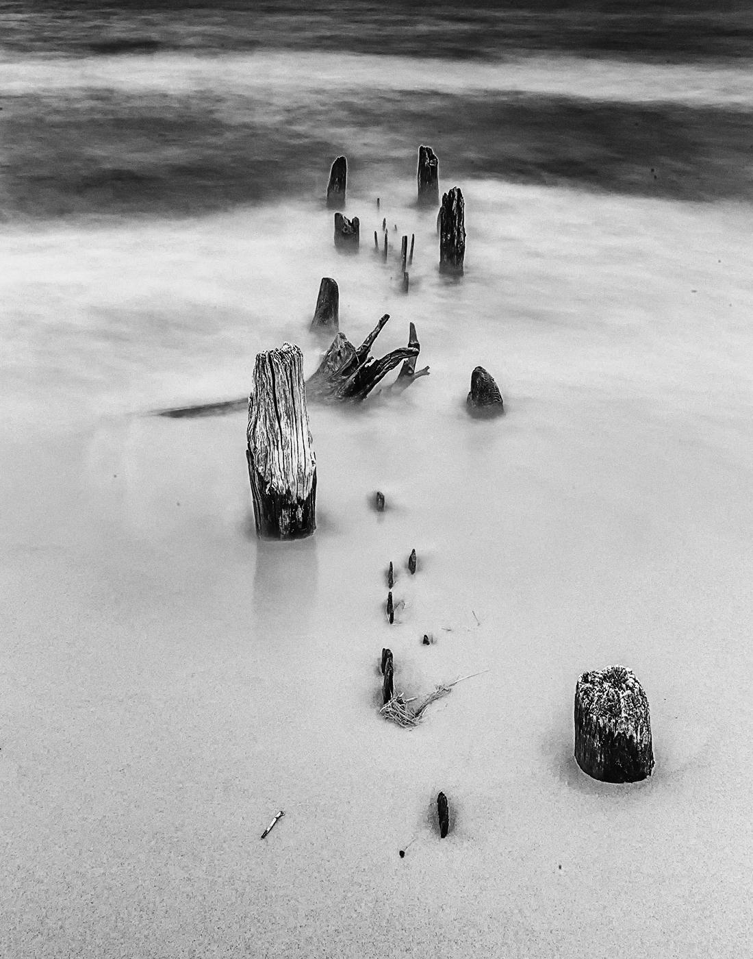 Abandon Piers In Lake Michigan