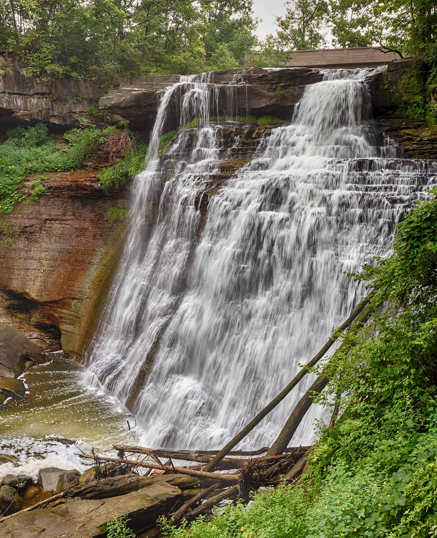 Brandywine Falls located in the Cuyahoga Valley National Park.
