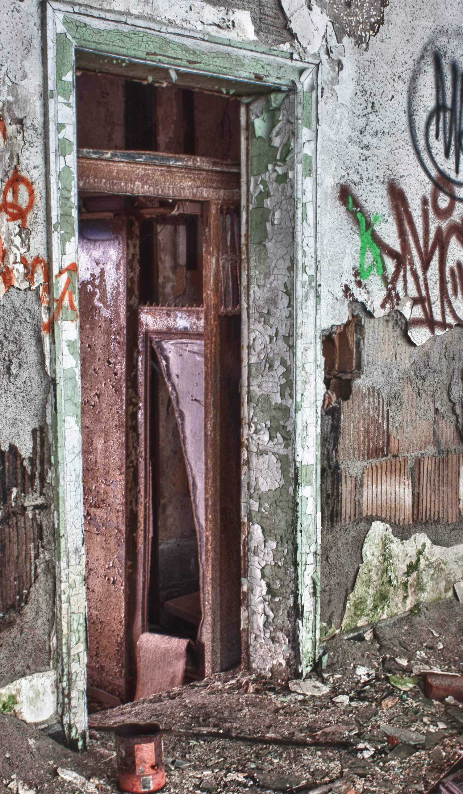 Crashed Elevator at the Packard Automotive Plant