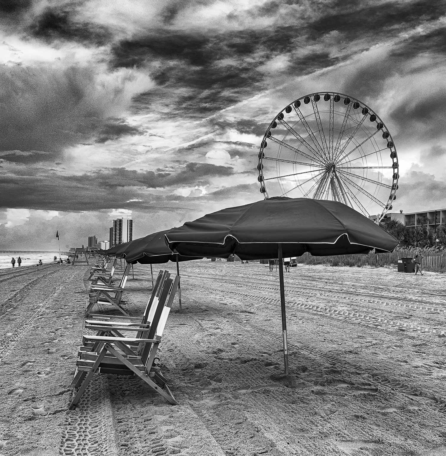 Beach Chairs and Ferris Wheel