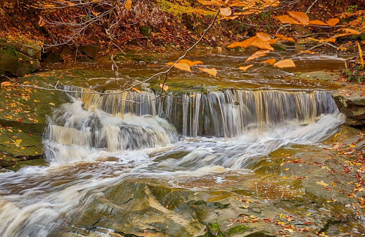 Upper part of Blue Hen Falls - Cuyahoga Valley National Park