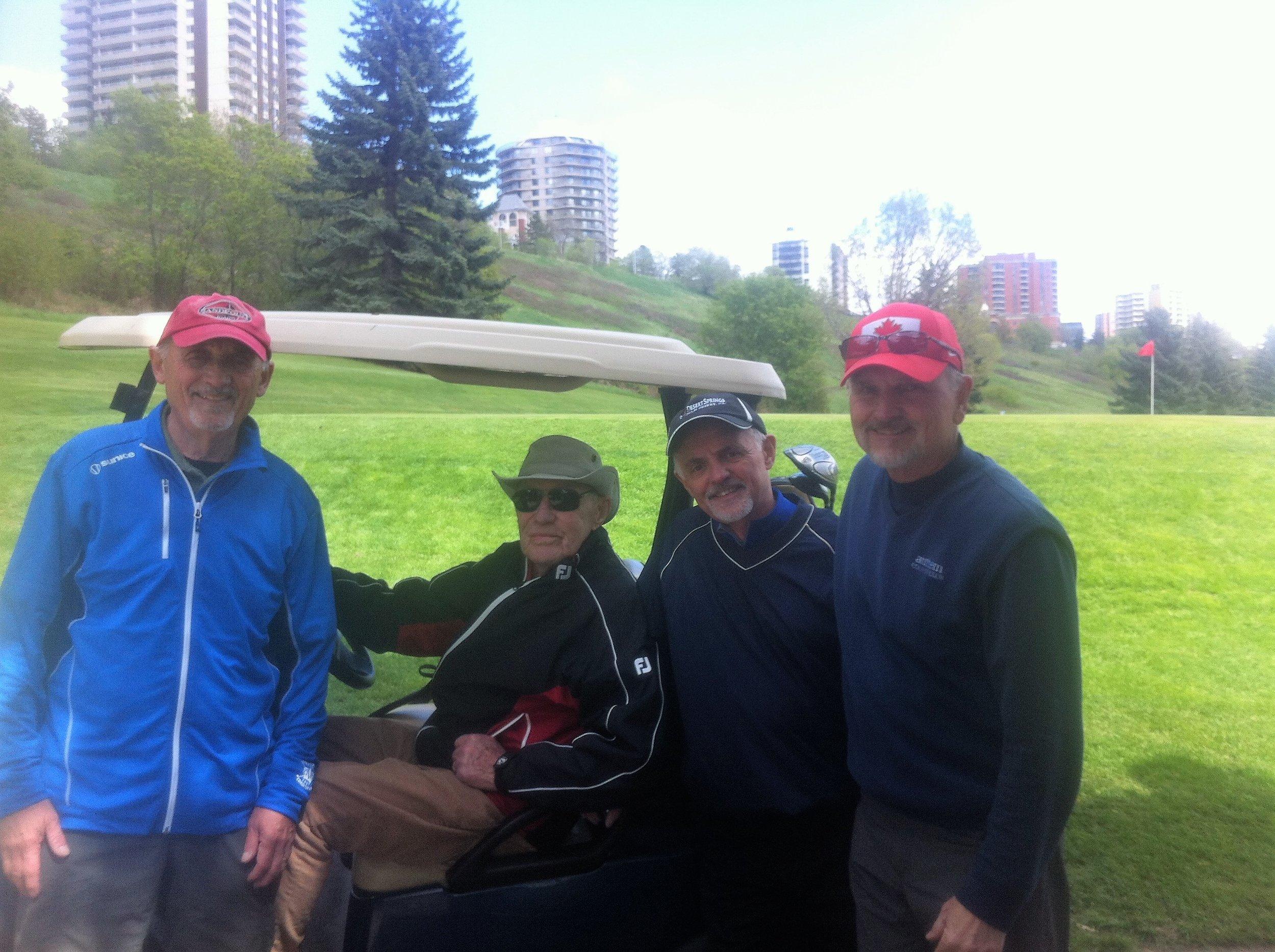 Brian Kirkwood, Al Henderson, Gord Kirkwood, Darryl Wolter