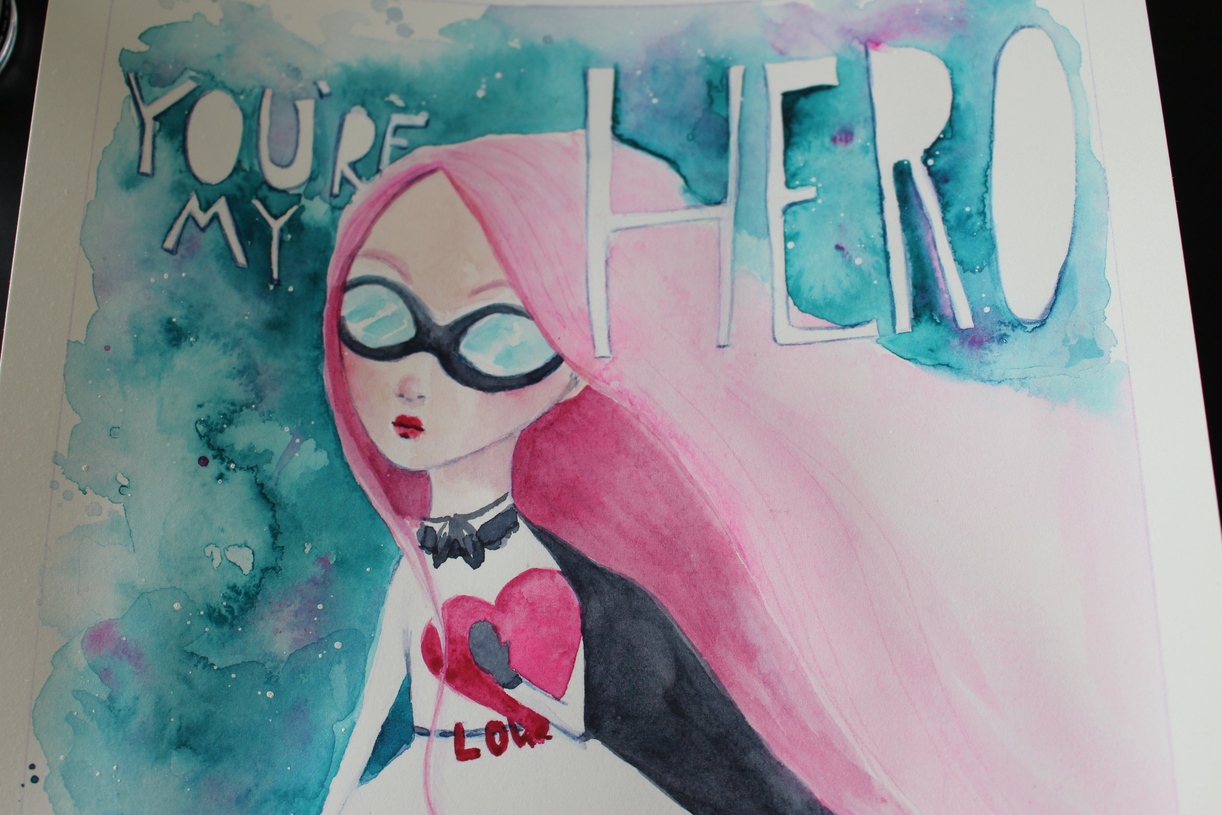 Learn to draw and paint a watercolor of a whimsical superhero! I will demonstrate using watercolor but this lesson will work in any medium.