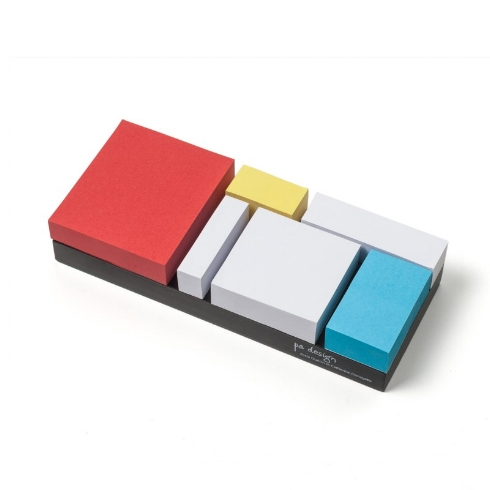I simply love these Mondrian inspired sticky note collection from  pa design . It's Mondrian in 3D.