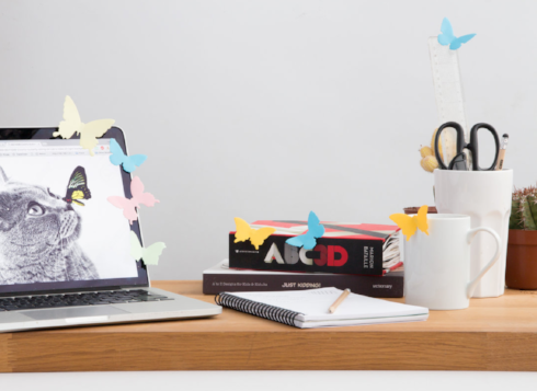 These 3D butterfly sticky notes from SUCK UK are decorative as much as they are note takers. Perfect as little page markers, notes as well as adding a little fun to your workspace.