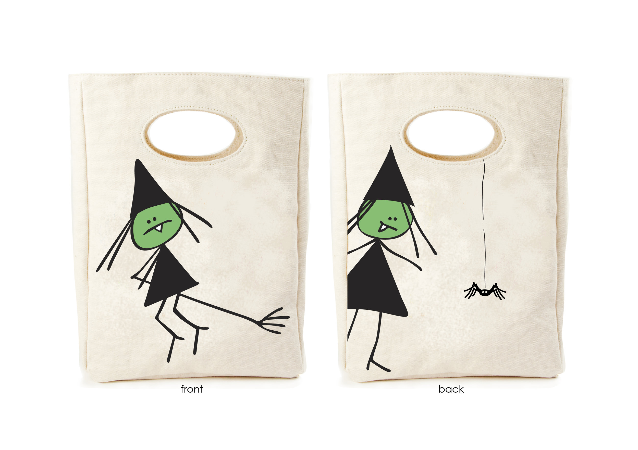 The Witchy Witch lunch bag doubles as a trick or treat bag. That's a win win.