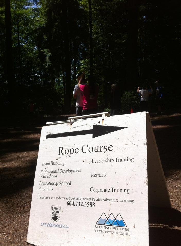 this way to the Ropes Course located at UBC