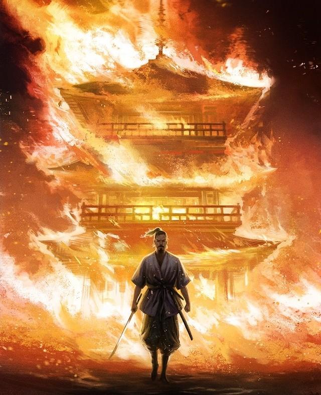 Sword. Men. Earth. Sky.  Prints will be available at @LightBoxExpo this weekend TABLE 313  #samurai #hagakure #miyamotomusashi #conceptart #digitalart
