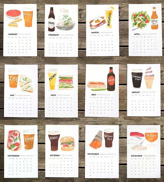 beer pairings calendar