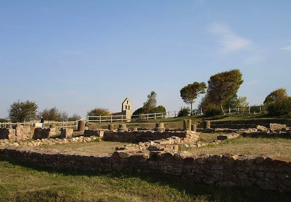 Part of the Roman remains at Julióbriga.