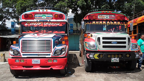 guatemala's chicken buses