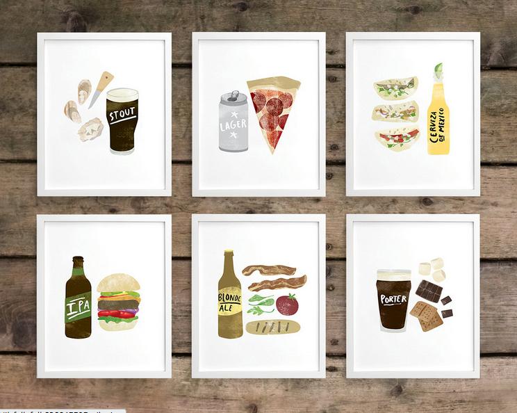 craft beer art print