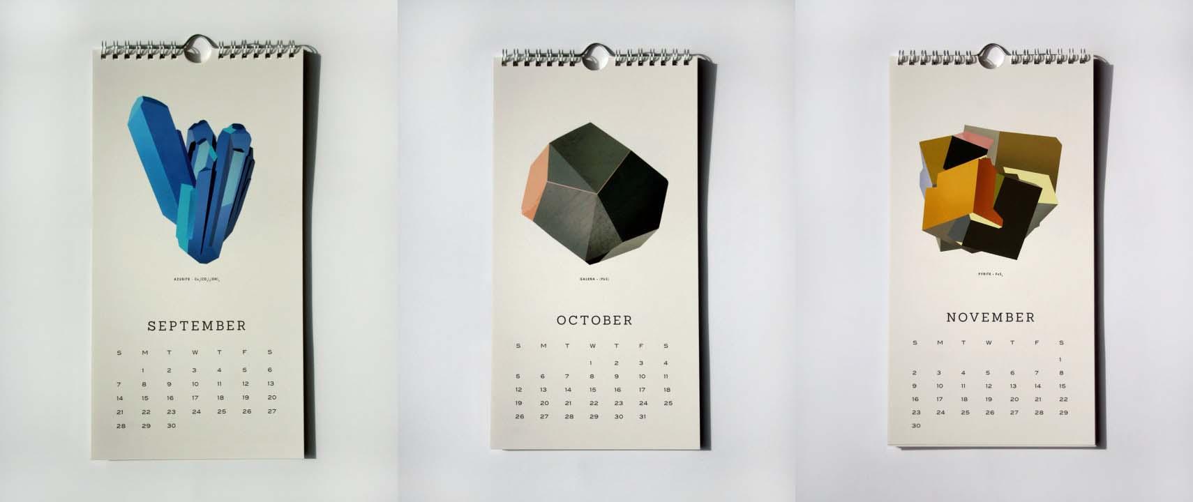 minerals calendar