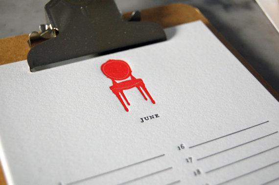 birthday calendar chair