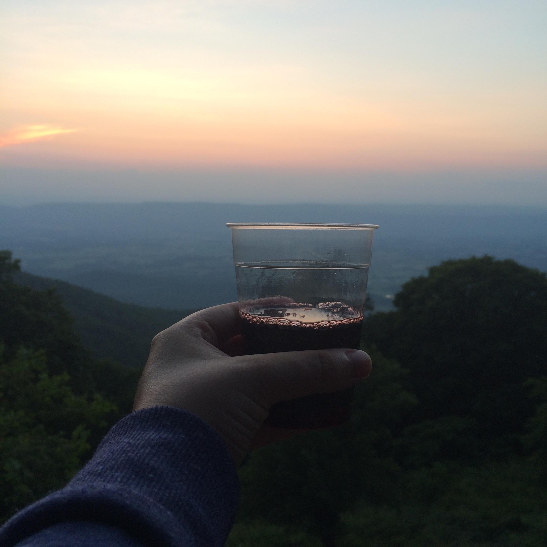 drinking-wine-shenandoah-national-park