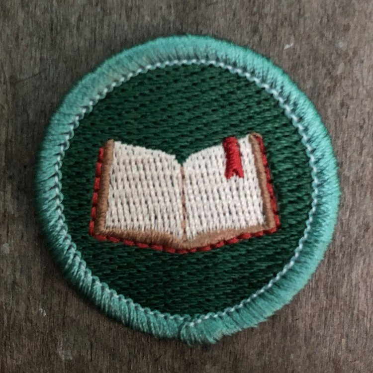 BOOKWORM BADGE [Reading Patch] — The Scout Project