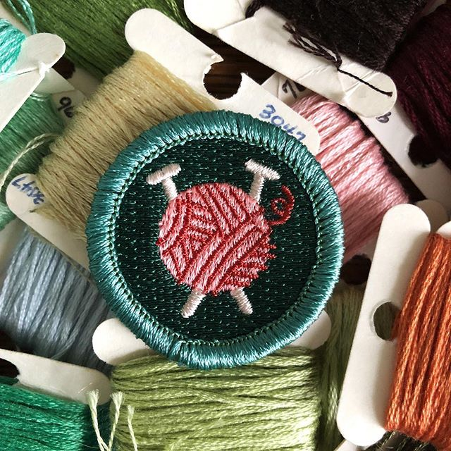 New month, new set of #BadgeOfTheMonthClub challenges. This month, we're giving #needlecraft a try. Sign up for our newsletter (link in profile) to join. And yes, this badge is back in stock in our shop!